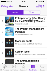Entreprenergy Number 1 on Careers Top Chart